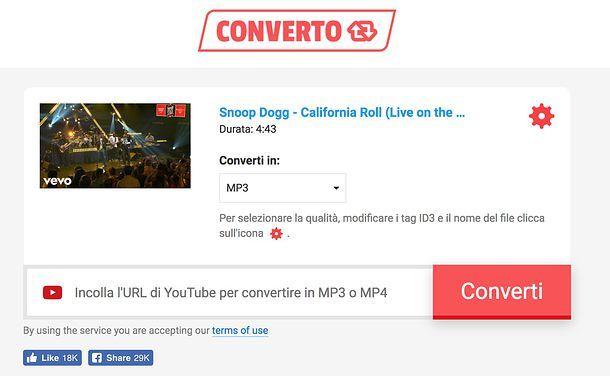 scaricare canzoni da youtube online gratis