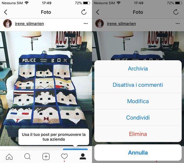 Archiviare i post instagram