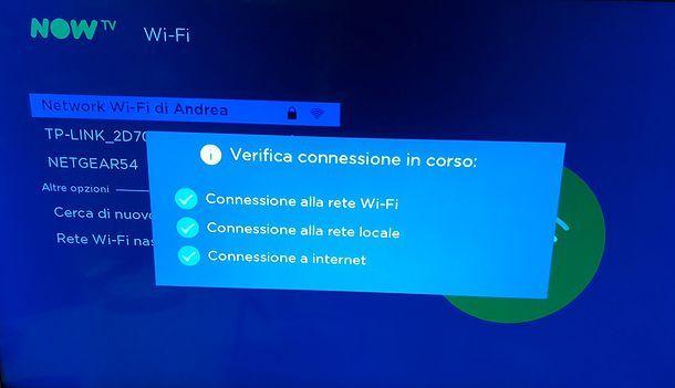 Connessione NOW TV Smart Stick