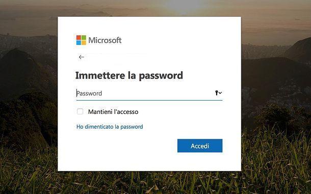 Recupero password Microsoft