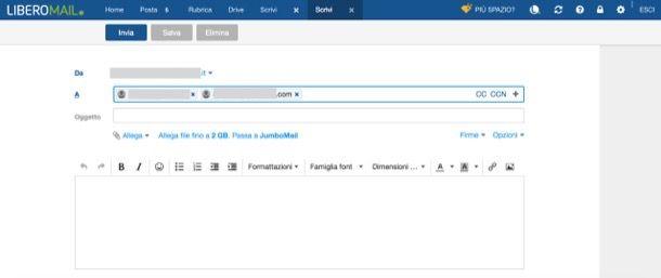 Inviare email a più destinatari
