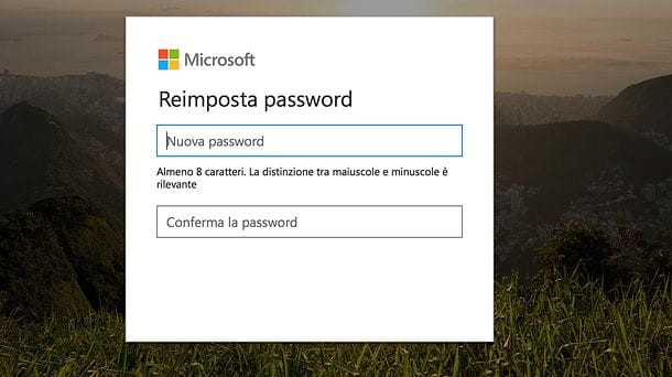 Recuperare password Microsoft