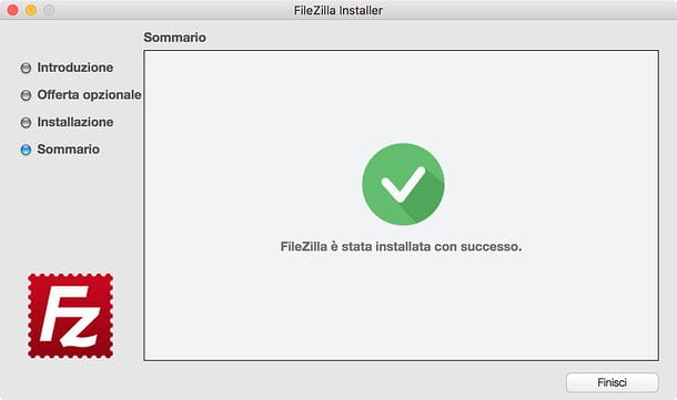 Installazione FileZilla Mac
