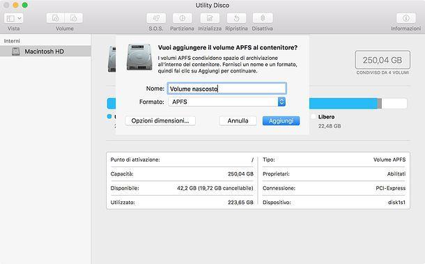 Come creare un volume su Mac
