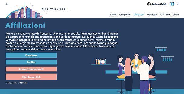 Affiliazioni CrowdVille