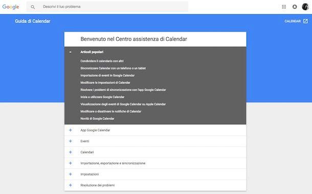 Come condividere Google Calendar