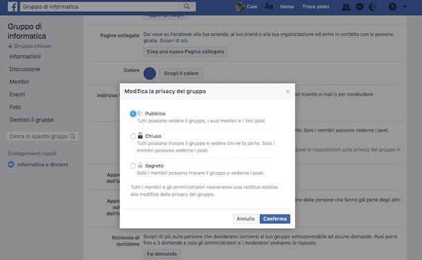 Come entrare in un gruppo chiuso di Facebook