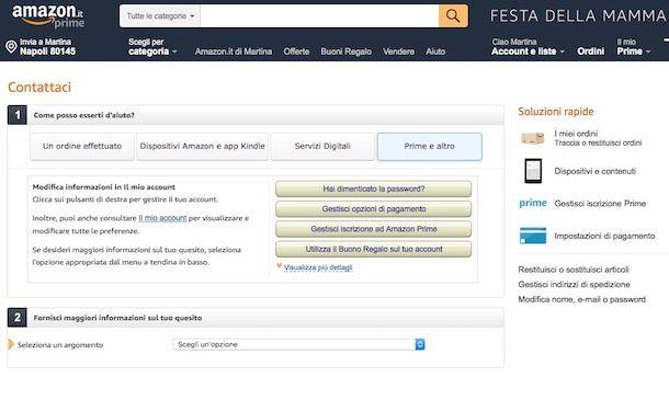 Come sbloccare account Amazon