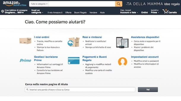 Come sbloccare account Amazon