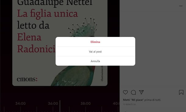 Come eliminare foto da Instagram PC