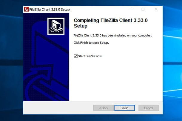 Installazione FileZilla Windows