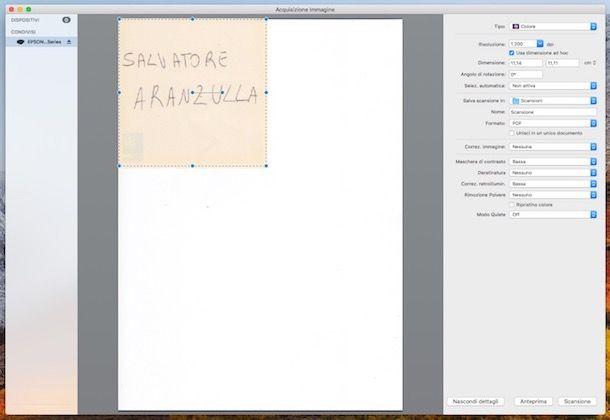 Come scannerizzare un documento con stampante Epson
