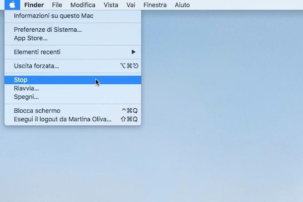 Come si spegne il Mac