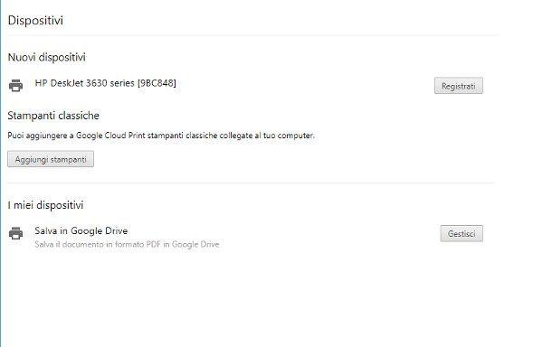 Collegare il telefono alla stampante con Google Cloud Print