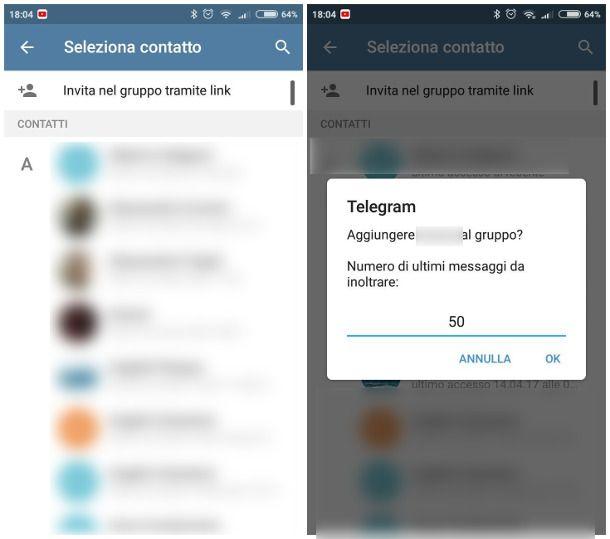 Come entrare in gruppo Telegram privato