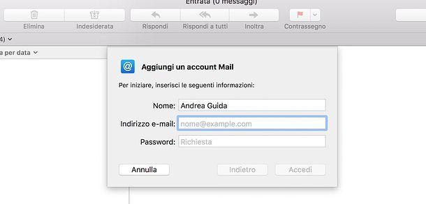 Come attivare IMAP su Mail