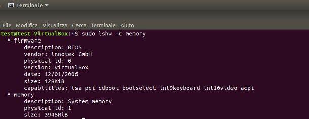 Come vedere la RAM del PC da Linux
