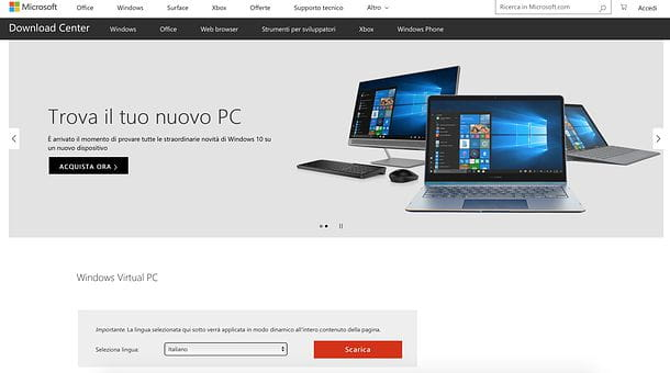 Come virtualizzare Windows XP su Windows 7
