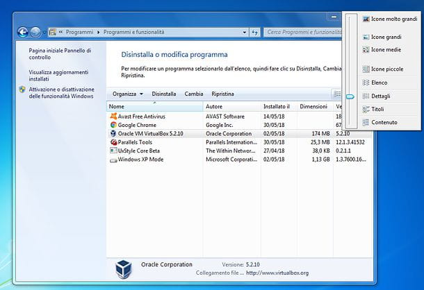 Come disinstallare un programma su Windows 7