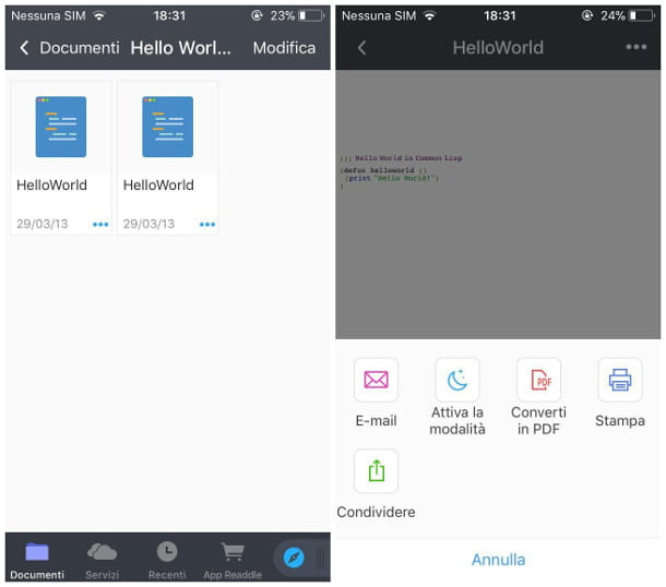 Aprire file ZIP su iPhone con Documenti di Readdle