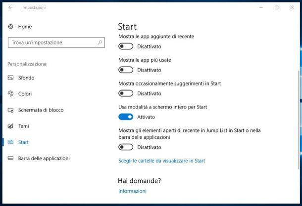 Come Cambiare Il Menu Start Di Windows 10 Salvatore Aranzulla