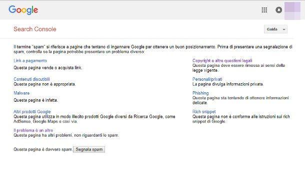 Segnalare un sito truffa a Google