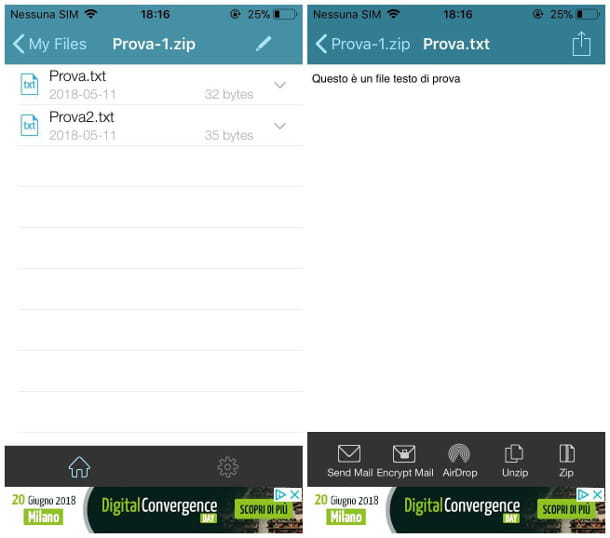 Aprire file ZIP su iPhone con WinZip