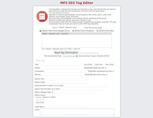 MP3 ID3 Tag Editor