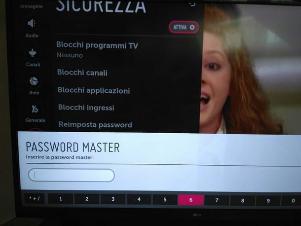 Come togliere blocco TV LG - Master password