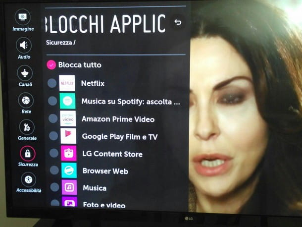 Come togliere blocco TV LG - Applicazioni