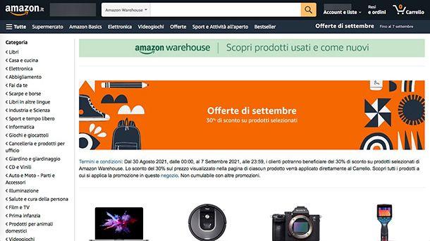 Come vendere su Amazon Warehouse