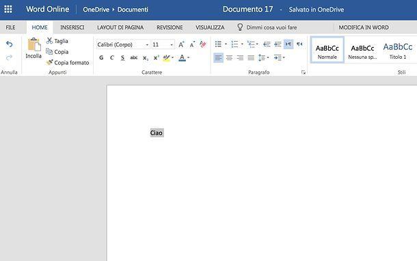 Come togliere effetto barrato in Word Online