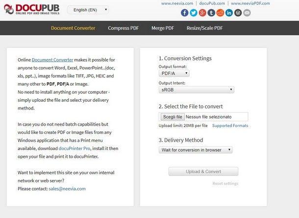 Come creare PDF A - DocuPub