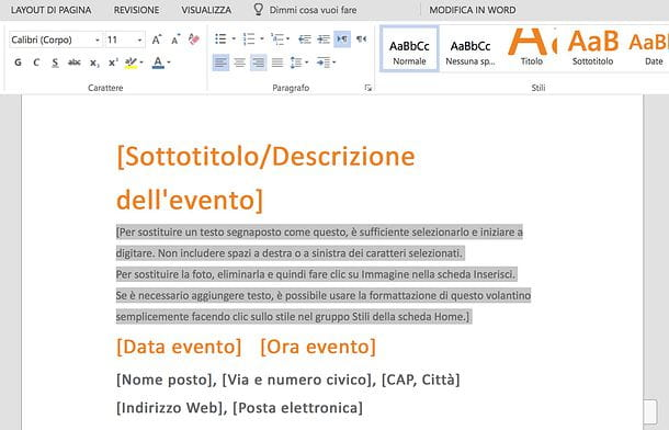 Come allineare un testo con Word Online