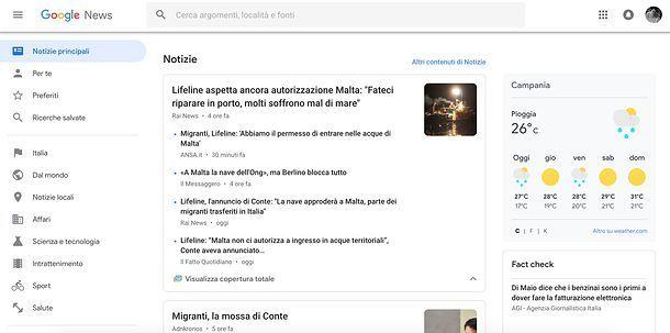 Come attivare le notizie su Google