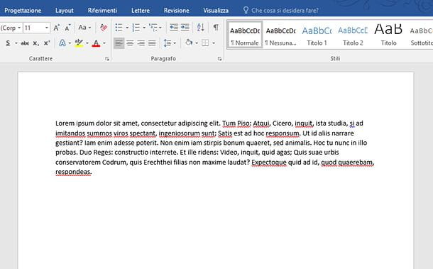 Come allineare un testo con Word per PC