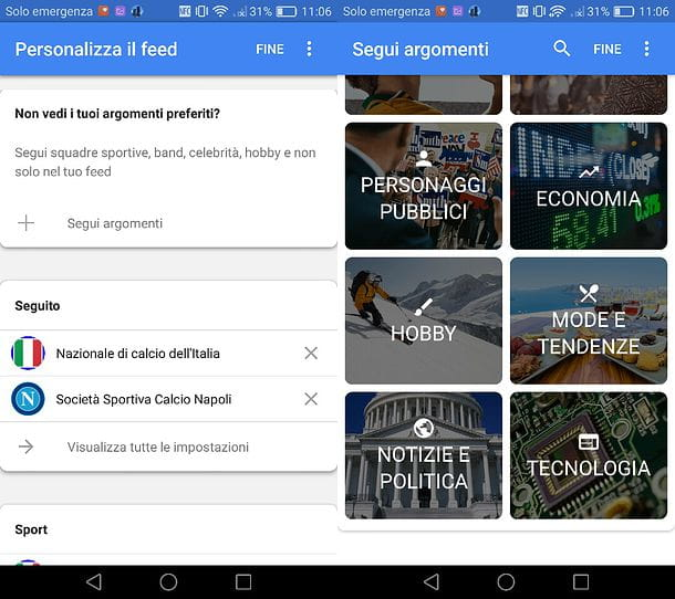 Feed app Google