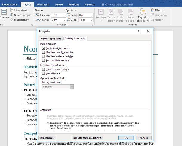 Come eliminare interruzione di pagina automatiche in Word