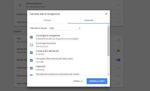 Eliminare ogni traccia dei siti visitati da Google Chrome