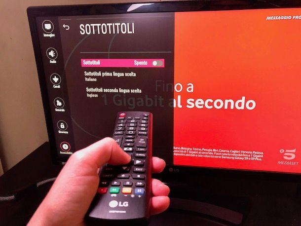 Come togliere i sottotitoli dalla TV LG