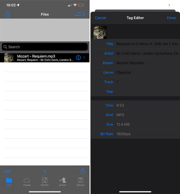 Cloud Music Player for Clouds