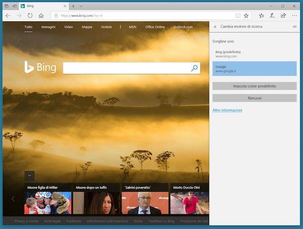 Come eliminare Bing