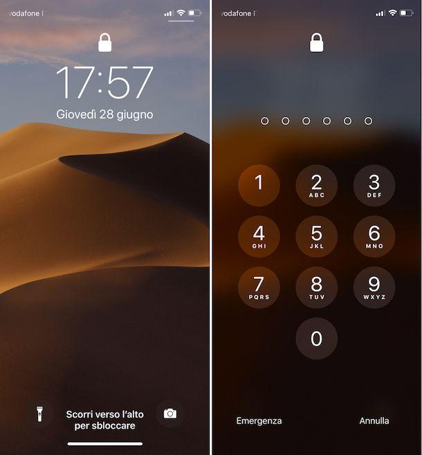 Come sbloccare iPhone X