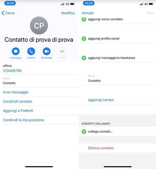 Come eliminare un contatto dal server di Gmail iPhone