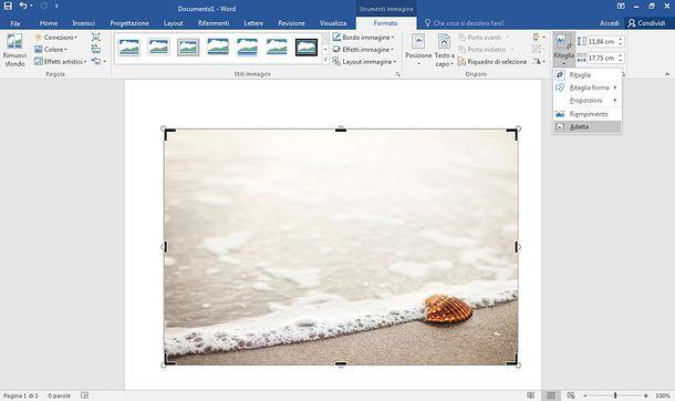Come adattare un'immagine ad un foglio Word