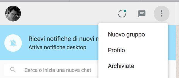 Come eliminare una chat dall'archivio di WhatsApp Web