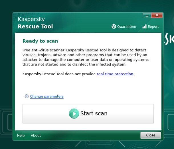 Come eliminare virus dal PC senza formattare - Kaspersky Rescue Disk