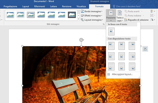 Come allineare un testo con Word