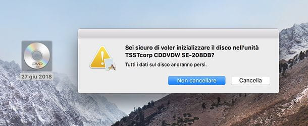 Come svuotare un CD su Mac