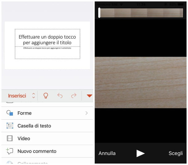 Inserire un video in PowerPoint per smartphone e tablet